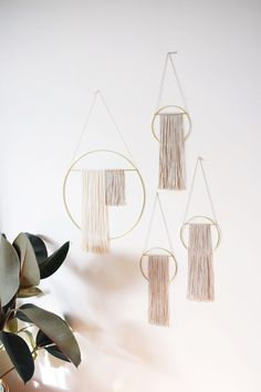 Sonadora Brass Wall Hangings with Bamboo Silk Blend Fiber