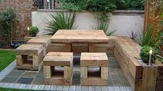 Would it be too difficult to make furniture like this for the garden?