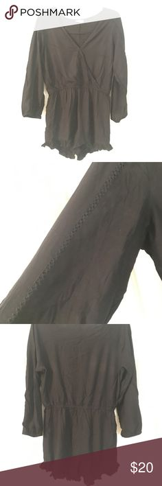 Pacsun Black Romper Black LA Hearts quarter sleeve Romper PacSun Pants Jumpsuits & Rompers