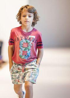 Marque enfant IKKS : Short de bain et tshirt rouge