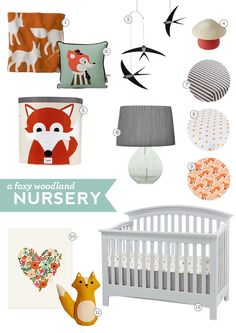 gathered heart: A Foxy Woodland Nursery