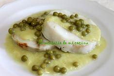 Medallones de merluza con salsa de puerros | El recetario de mi cocina