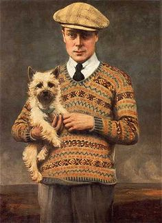 The Fair Isle sweater was popularized by the Prince of Wales in 1921. Because the knitting technique requires using many different pieces of yarn the pattern became hugely popular during WWII because of rations. Today, it is one of the classics that men should invest in for their classic closet.