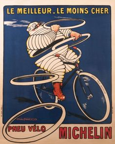 Fashion Lady Girl Pneu Velo Michelin Tires French Vintage Poster Repo FREE S//H