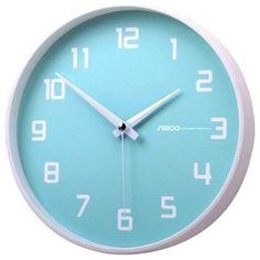 Fruity Blueberry Non-Ticking Silent Wall Clock, Baby Blue modern clocks