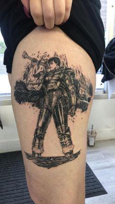 For fans of the manga Berserk and its adaptations. Manga Tattoo, Comic Tattoo, Anime Tattoos, Body Art Tattoos, I Tattoo, Cool Tattoos, Berserk, Blackwork, Piercings