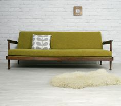 Vintage sofabed designed by George Fejer & Eric Phamphilon & manufactured by Guy Rogers of Speke, Liverpool.  Fully restored.