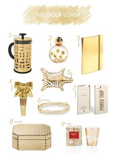 GIFT GUIDE | THE GOLD LOVER