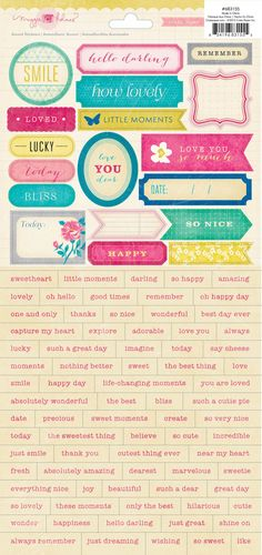 Crate Paper Maggie Holmes Accent Stickers - Word
