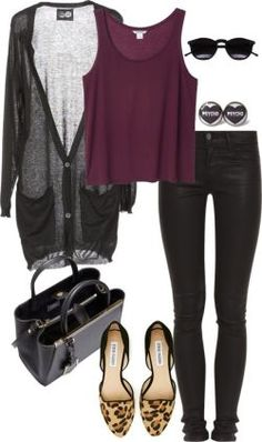 A fashion look from August 2014 featuring long sleeve v neck top, shirts & tops and super sk ...