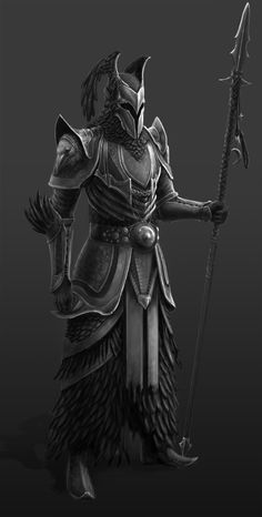 Wicken Lancer, Daumantas Goda on ArtStation at… Armadura Medieval, Armadura Viking, Fantasy Character Design, Character Concept, Character Art, Dragon Knight, Knight Art, Inspiration Drawing, Character Inspiration