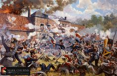 SOLDIERS- Churms: Hougoumont - Waterloo 1815, by Mark Churms.