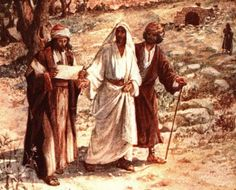 """On the Road to Emmaus. BIBLE SCRIPTURE: Luke 24:15, """"And it came to pass, that, while they communed together and reasoned, Jesus himself drew near, and went with them."""" - http://access-jesus.com/Luke/Luke_24.html"""
