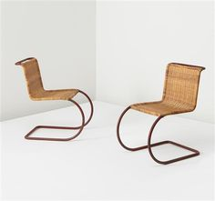 LUDWIG MIES VAN DER ROHE  Pair of chairs, model no. MR 10, circa 1930