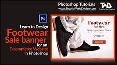 Design Footwear Sale Banner for an Ecommerce Website in Photoshop