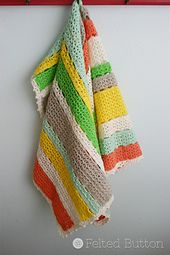 Ravelry: Citrus Stripe Blanket pattern by Susan Carlson-Love these colors for a baby blanket
