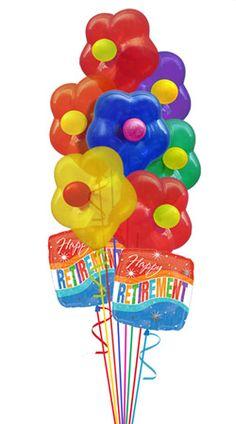 Retirement Balloon Bouquet 9 Balloons