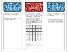 amazing race clues template so fun and easy they are word files