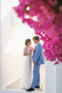 Wedding in Santorini Santorini Wedding, Santorini Greece, Destination Wedding, Wedding Photography, Couple Photos, Couples, Wedding Dresses, Couple Shots, Bride Dresses