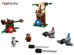Build and play an action-packed LEGO® Star Wars™ Battle of Endor challenge with targets to hit, speeder bike and buildable tree! Lego Clones, Lego System, Lego Store, Lego Group, Lego News, Team Fortress, Lego Star Wars, Battle, Pokemon