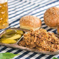 Trhané vepřové maso pečené vmoštu | Akademie kvality Pulled Pork, Food And Drink, Ethnic Recipes, Shredded Pork