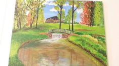 Autumn Day Acrylic Painting  16x20 by NotableGrove on Etsy