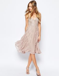 Image 3 of ASOS WEDDING Embellished Cami Midi Dress