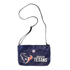 NFL Houston Texans Jersey Mini Purse by Little Earth. $20.00. Mini Purse made with Authentic Jersey Material. Screen Print of Favorite Team Logo and Name. Zipper Closure. Two Inner Pouch Pockets keep Belongings Safe. NFL Houston Texans Jersey Mini Purse