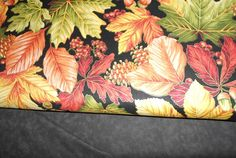Large fall leaves with metallic & black mottled fabrics www.robinsnestquilts.com