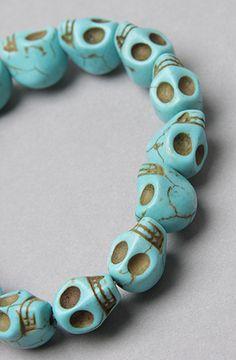 Accessories Boutique The Stone Skull Elastic Bracelet in