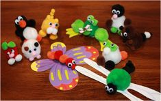 Pom Pom Animals Ideas | She's Crafty: Making PomPom Animals with the Kids