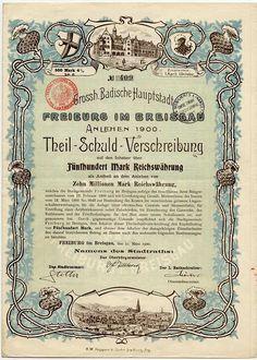 "German ""Historical Document""  Antique Stock Certificate    http://www.tschoepe.de/information_engl.htm"