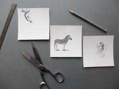 DIY - Associer gravures anciennes et papiers colorés pour des cadres illustrés originaux / Associate old drawings and colorful papers for original illustrated frames