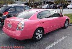 I wouldn't choose pink but still a very cute pink Nissan Altima!