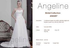 Bride dress Bridal by Anenia Chiffon Skirt, Lace Bodice, Bridal Collection, Bridal Dresses, One Shoulder Wedding Dress, Lace Up, Colours, Bride, Skirts