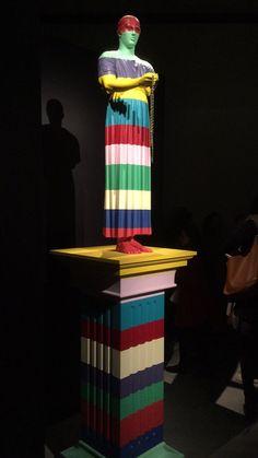 Colourful statue