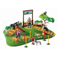 Playmobil Dog Park SuperSet Obstacle Doggie Course For Your Little Dog Lover New #Playmobil