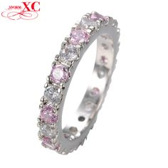 Romantic Pink Zircon Stone Finger Rings For Women Bridal White Gold Filled Love Jewelry Wedding Party Gift Ring Bijoux RW0128  Price: US $11.92  Sale Price: US $7.75  #dressional