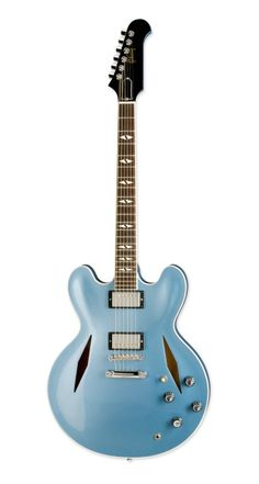 David Grohl's Pelham Blue finish on a DG-335 body with Trini Lopez diamond f-holes is a masterpiece in both function and beauty.