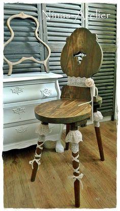 Bauernstuhl Vintage Traum von Ninas-Atelier auf DaWanda.com