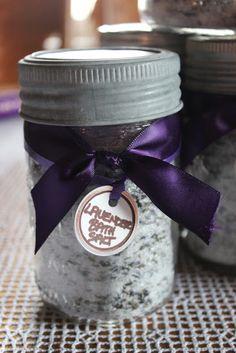 Simple home made Christmas Gift -Lavender Bath Salts tutorial.