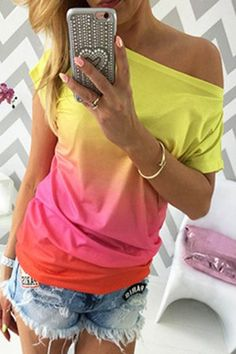 Fuchsia Ombre Boat Neck Casual Tee Top @ T Shirts,Tee Shirts,Womens T Shirts,Funny T Shirts,Cheap Tee Shirts,Graphic T Shirts,Casual T Shirts,Cool T Shirts,Leopard Print T Shirts,Print T Shirts,Khaki T Shirts,Designer Black,White T-Shirt,Street Fashion T-Shirts and More for Sale