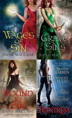 Cin Craven series by Jenna Maclaine    Reading order : http://paranormalromancereads.com