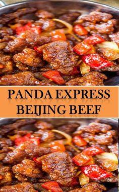 Panda Express Beijing Beef – Food and Drink – Amazing World Food and Recipes Asian Recipes, Beef Recipes, Cooking Recipes, Chinese Recipes, Copycat Recipes, Drink Recipes, Recipies, Chinese Bbq Pork, Asian Beef