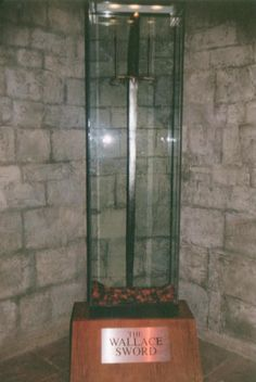 Here is a picture of Sir William Wallace's broadsword in it's bulletproof case at the Wallace monument museum.