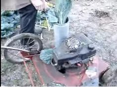 Plant Mulcher by msbrendadotcom -- Homemade plant mulcher constructed from a surplus lawnmower and ducting. http://www.homemadetools.net/homemade-plant-mulcher