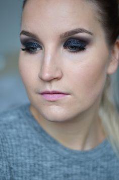 Meikkitutorial: uudenvuoden musta glitter-meikki