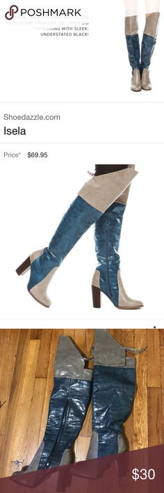 Shoedazzle Isela over the knee boots Statement boots! Shoedazzle Isela over the knee boots. Completely sold out. Make your offer! ShoeDazzle Shoes Over the Knee Boots