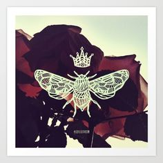 Blood Rose Queen Bee by schillustration
