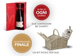 Con il contest #Amore Chianti di Melini potrete vincere una fantastica confezione di vino Re Chianti; partecipate e tentate la fortuna!